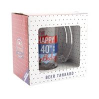 'Happy 40th Birthday' Beer Tankard Birthday Gift For Him